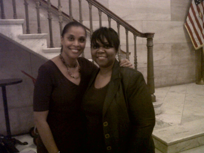 NCFDV President Alisha Griffin with Dress for Success Worldwide founder Joi Gordon